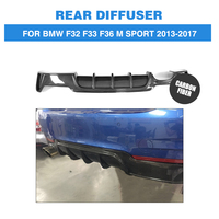 Carbon Fiber/FRP Unpainted Rear Bumper Exhaust Diffuser Lip for BMW 4 Series F32 F33 F36 M Sport 13 17 P Style Car Accessories