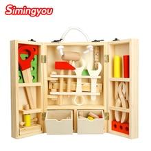 Caja de herramientas de madera para niños