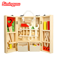 Simingyou New House Children Wooden Toolbox Service Simulation Toolbox Children Toy Nut Toolbox Blocks
