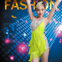 New Girls High End Latin Dance Wear Diamond Tassel Costumes Contest Grading Personality Performance Clothing