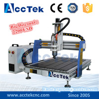 acctek 4 axis cnc router engraving machinery 6090 mini pcb cnc drill router machine for sale