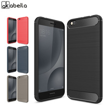 AKABEILA Phone Cover Case For Xiaomi Mi5C Mi 5C XIAOMI 5C 5.15 inch Cases Cover Carbon Fibre Brushed TPU Shell Bag