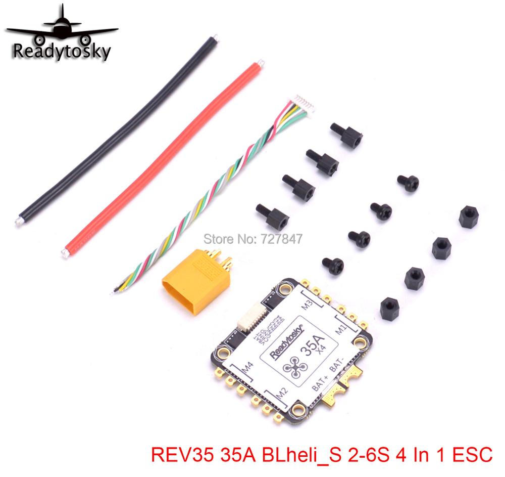 NEW REV35 35A BLheli_S 2-6S 4 In 1 ESC Built-in Current Sensor for RC Racer Racing FPV Drone Spare Parts image