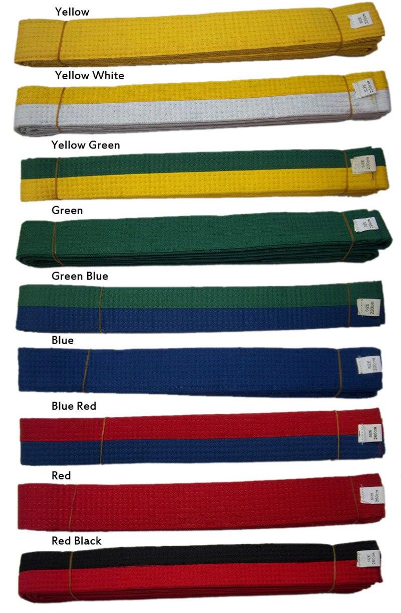 Taekwondo Ceinture Standard Taekwondo route avec divisa Multicolore niveau ceinture  tkd ceinture Arts Martiaux Karaté Judo EVA intérieure ceinture + cadeau ... 6af763d2bc5