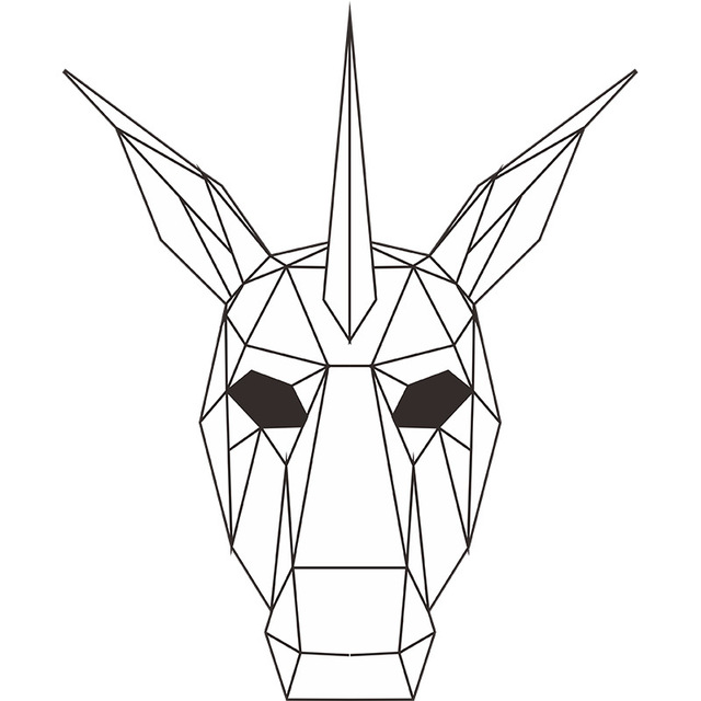 La Licorne – Paper Mask 3D Creative
