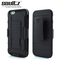 Soultz Anti Knock Belt Clip Holster Shell Phone Case Cover For Iphone 6 6plus 5S 5C