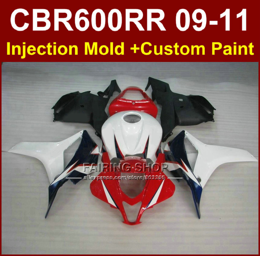 100% FIT Motorcycle red fairings for HONDA CBR 600RR 09 10 11 CBR 600 RR fairing kits 2009 2010 2011 cbr600rr bodykit+7gifts 100% fit motorcycle fairings for honda cbr 600rr 09 10 11 cbr 600 rr rothmans blue fairing kits 2009 2010 2011 cbr600rr 7gifts