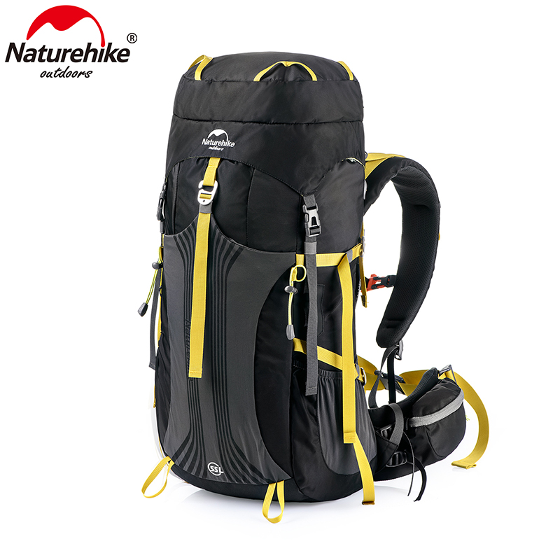 Naturehike 55L 65L NH16Y065-Q Profissional Mochila Saco de Caminhadas com Sistema de Suspensão