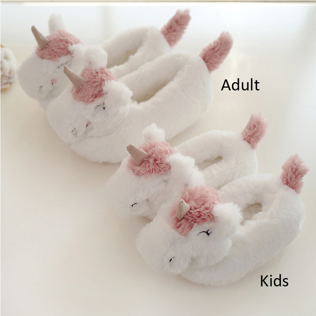 Toddler And Kids Unicorn Slippers