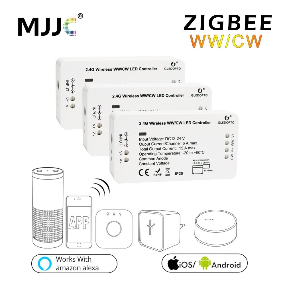 Zigbee LED Controller WW CW Zigbee Controller LED DC12V 24V LED Strip Controller Zll App Controller RGBW RGB платье трикотаж blugirl folies платья и сарафаны мини короткие