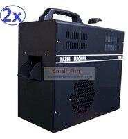 2 xlot 1000 Вт туман машина 2.5L профессиональные Hazer туман, машины, оборудование сцены Haze жидкости на водной основе DMX512 Управление fogger