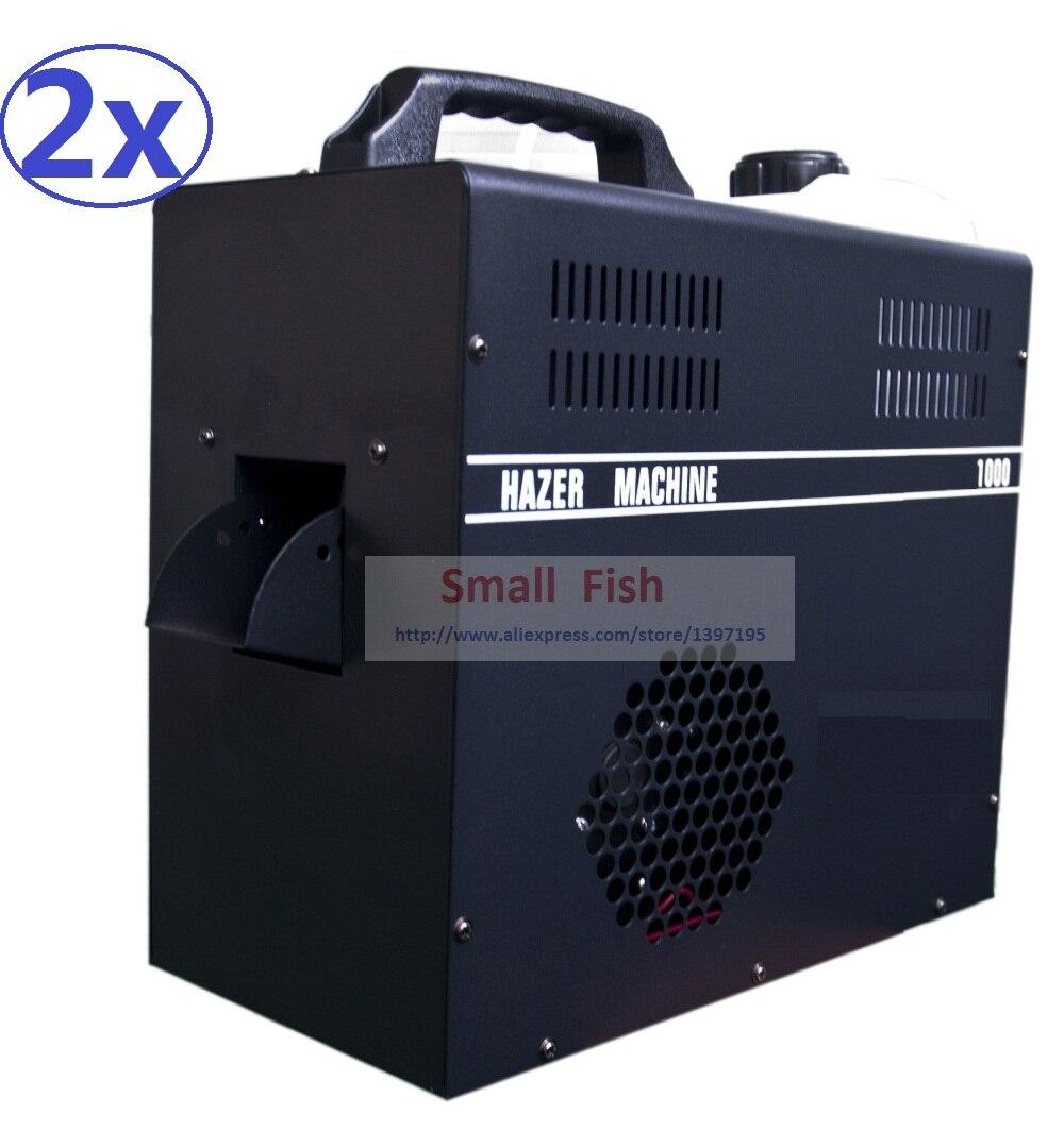 2xLot 1000W Mist Haze Machine 2.5L Professional Hazer Fog Machine Stage Equipment Haze Liquid Water Based DMX512 Control Fogger