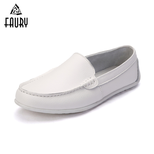 f26431754a93 Men s White Black Casual Soft Flat Shoes Anti-slip Hospital Doctors Nurses  Work Shoes Breathable Single Shoes Male Lazy Shoe