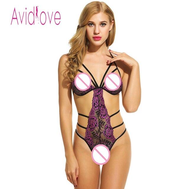 f249328e97 Avidlove Brand Nightwear Women Sexy Lace Bodysuit Lingerie Underwear Sexy  Costumes Backless Hollow Teddies Bodysuit Nightwear