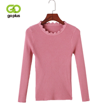 GOPLUS Knitted Sweater Womens Casual Solid Autumn Winter Slim Round Neck Full Sleeve Seaters Korean Basic Tops C8091