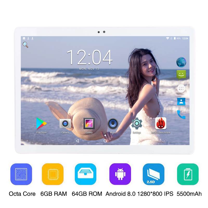 10 10 1 inch 3G 4G LTE Phone Call Tablet PC Octa Core 6GB RAM 64GB