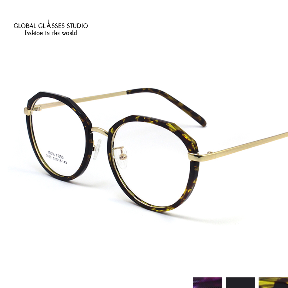 dce5112f163 Latest Trend Retro Round Glasses Frame Ultra-Light Metal Frame Reading  Glasses Prescription Eyeglasses 2640