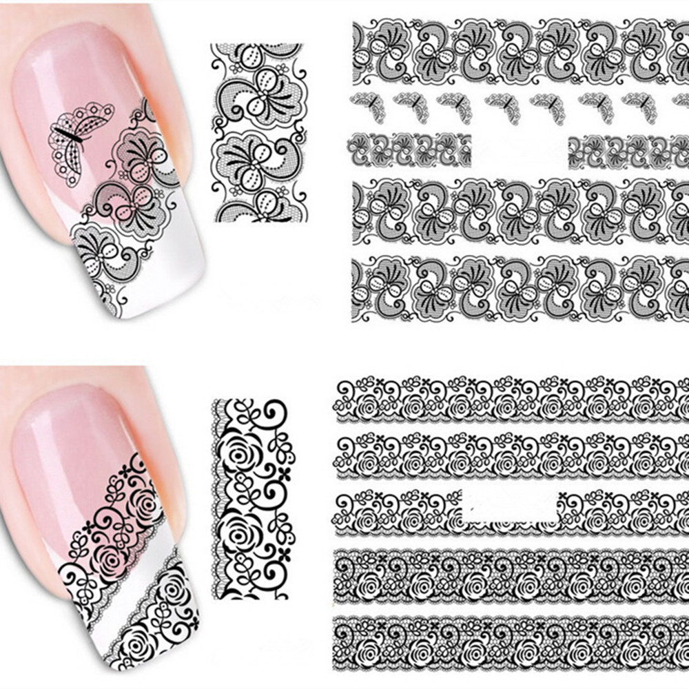 Stickers decals nail stickers nail art decals fashion - Aliexpress Com Buy 20pcs Mixed Fashion Sex Black Lace Vine Charm Nail Art Stickers Water Transfer Decals Wraps Nail Art Tattoos Diy Printing From Reliable