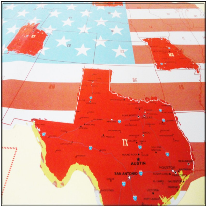 HOT usa scratch map Of American Country Map Packed in Card Tube ...