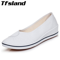 Women Comfortable Breathable White Canvas Shoes Soft Bottom Wedges Heels Nurse Shoes Party Walking Shoes Sneakers
