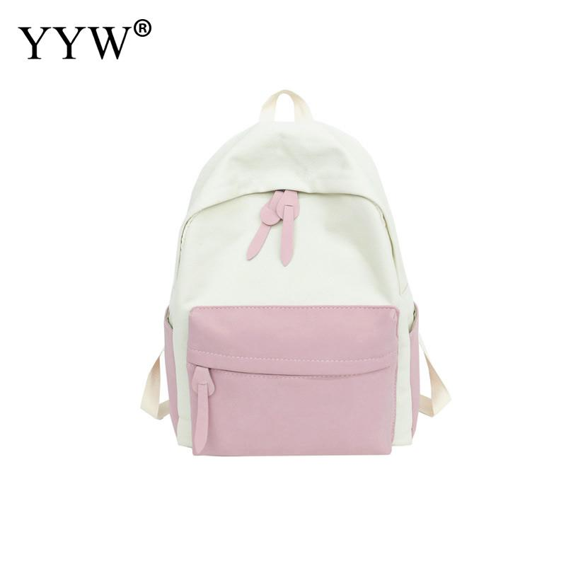 Backpack Travel Women School-Bags Canvas Lightweight Teenager Large-Capacity Casual