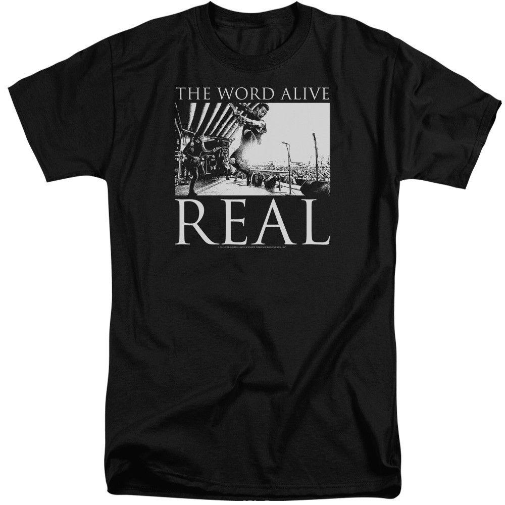 2018 короткий рукав хлопковые футболки Человек Костюмы Слово Живой Live выстрел Футболка Для мужчин высокорослых короткий рукав Hipster