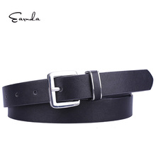 Earnda Women Belts Solid Color Buckle Simple Waist Design Belts for Women PU Leather Belts for Dresses preppy women s satchel with solid color and pu leather design