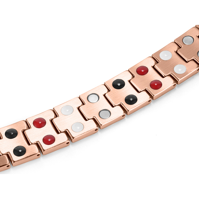 HTB1DZQoRVXXXXbEXpXXq6xXFXXXx - RainSo Titanium Magnetic Bracelets & Bangle 2 Row Health Care Elements Germanium Healing Bracelet Health Hologram Wristbands