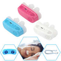 Nuevo dispositivo de silicona antironquido electrónico para respirar la nariz dilatadores nasales dispositivo de ayuda de Apnea para dejar de roncar dispositivos