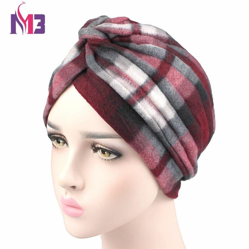 2017 Winter New Fashion Women Wool Turban Twist Headband Thick Warmer Chemo Headwear Ladies Hijab Turbante