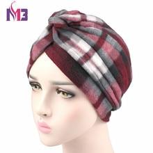 2017 Winter New Fashion Women Wool Turban Twist Headband Thick Warmer Chemo Headwear Ladies Hijab Turbante new fashion women knit turban plush wool lining turban ladies stretchy turban headband hijab turbante hat headwrap