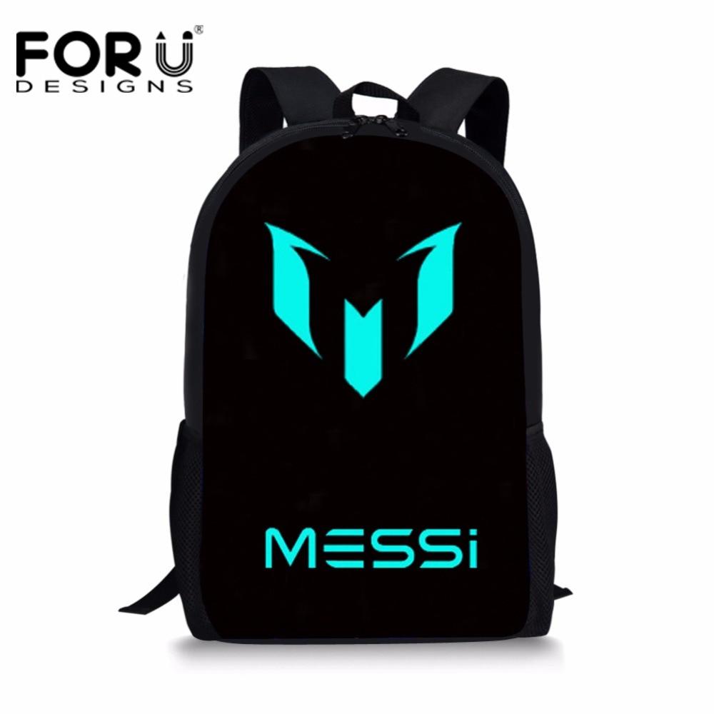 8bd2de4cb FORUDESIGNS Logo Messi Schoolbag Backpack Men Boy Barcelona School Bag  Teenager School Kids Book Bagpack Mochila