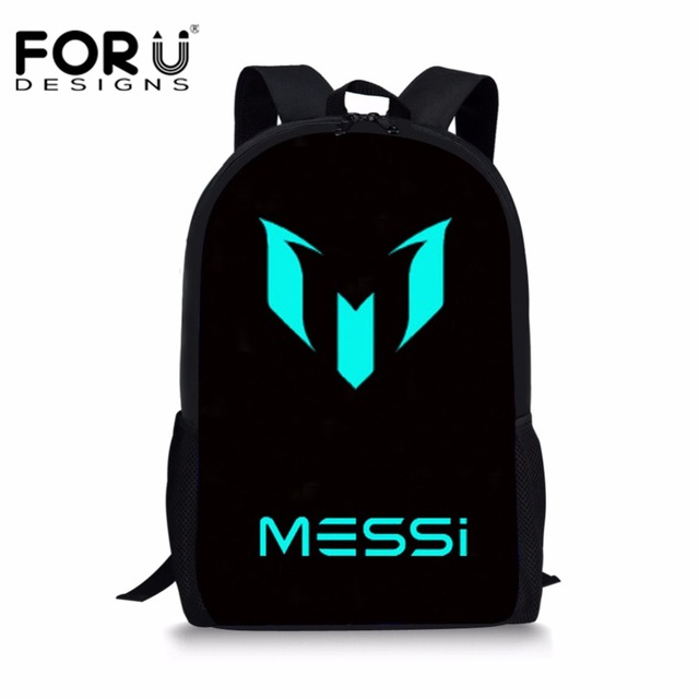 2fd1e4a74 FORUDESIGNS Logo Messi Schoolbag Backpack Men Boy Barcelona School Bag  Teenager School Kids Book Bagpack Mochila