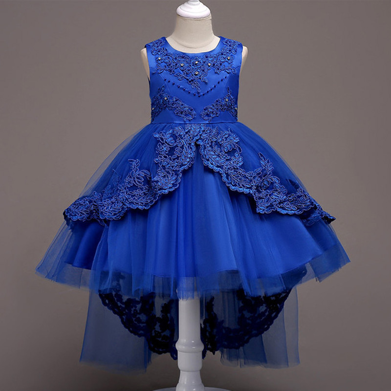 Vestidos de gala para ninas color azul