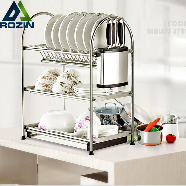 Deck Standing Stainless Steel Kitchen Pot Rack Holder Pan Hanging Organizer  Cookware Storage Hanger