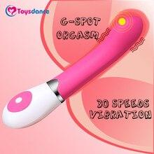 Toysdance 30 Speeds Silicone Dildo Vibrator For Women Female Masturbator Powerful G-spot Orgasm Massaging Vibe Adult Sex Toy