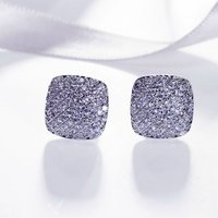 Love Accessories Classic Earrings Platinum Plated High Quality Earings Fashion Jewelry Clear White Cubic Zirconia Free