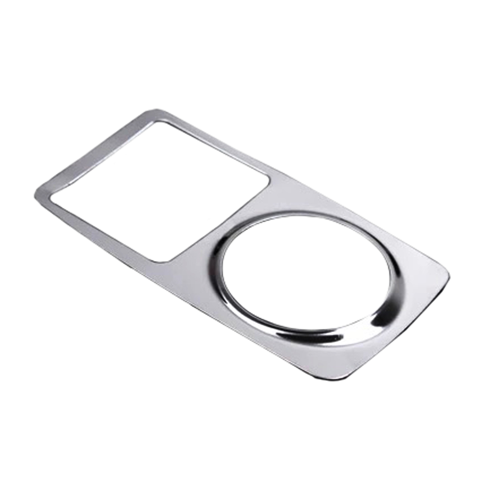 Car Chrome Stainless Steel Cigarette Lighter Decoration Trim Refires Cover For Ford Focus 2011 2012 2013 2014