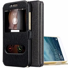 223f70c22078 Wallet Flip Case for Huawei Y6 2017 Window View Leather Case for Huawei Y6  Pro 2017