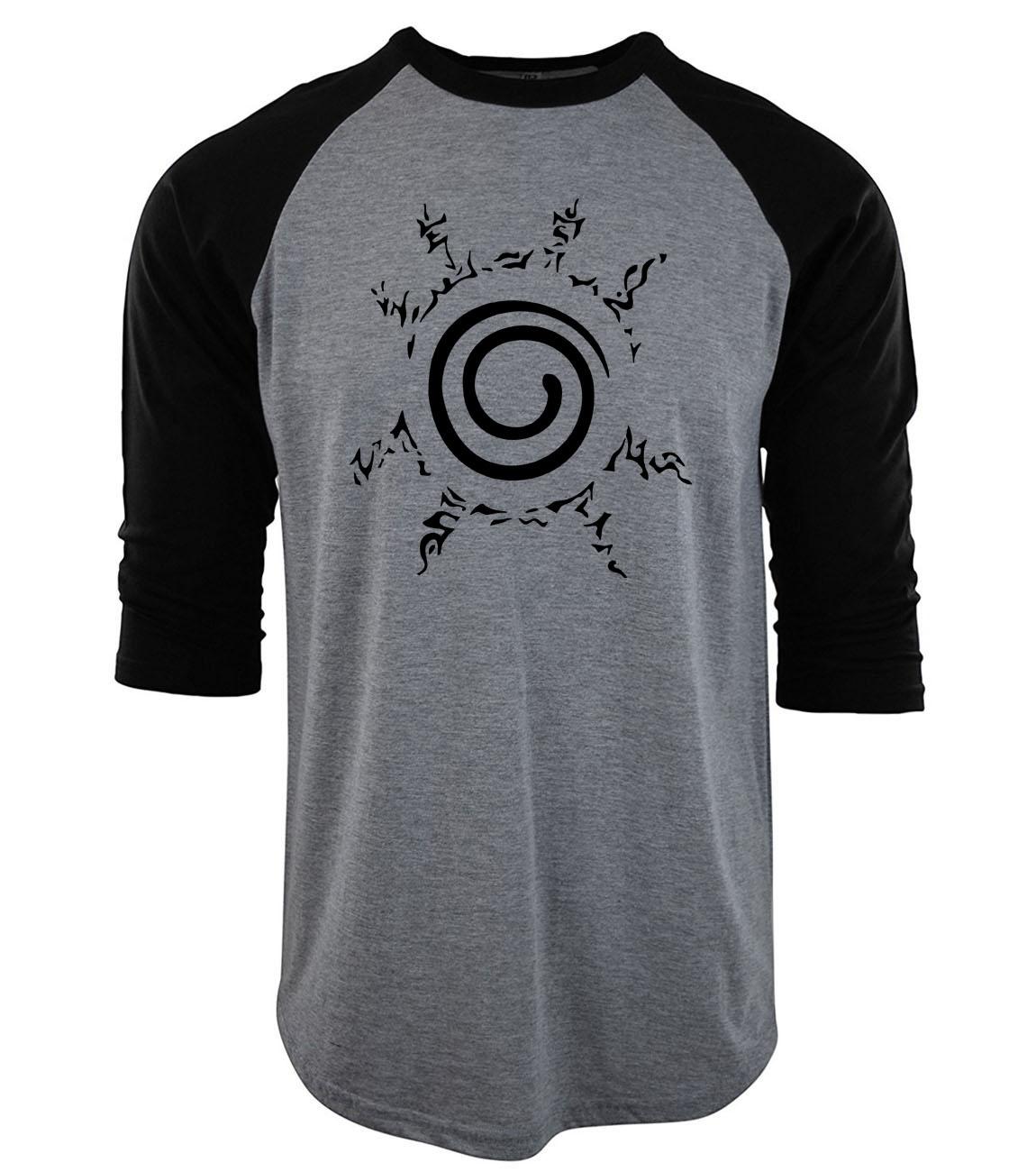 mens t shirts fashion 2019 poleras hombre man clothing funny three-quarter sleeve t-shirt men Uzumaki Naruto raglan camiseta