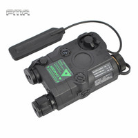 Airsoft Tactical AN/PEQ 15 Green Dot Laser with White LED Flashlight Torch IR illuminator For Hunting Outdoor Black/Tan