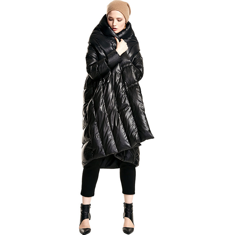 2017 Ladies Long Winter Coat Women Ultra Plus Size White Duck Elegant Down Jacket Black Women's Parka Puffer Coats and Jackets