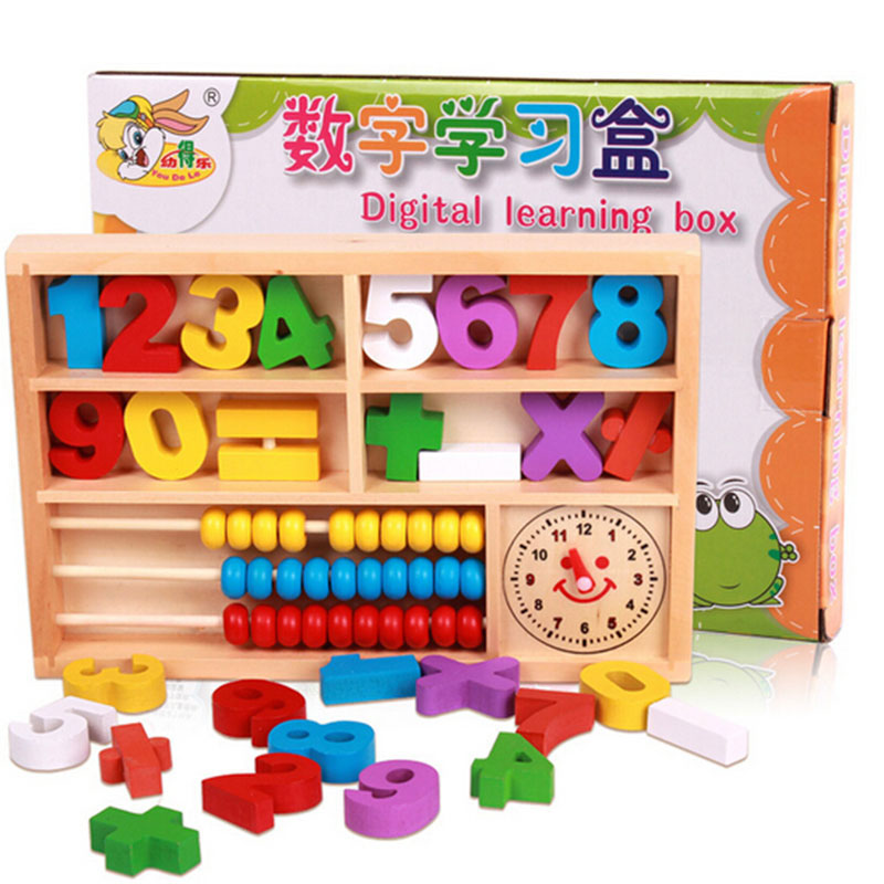 Early Childhood Educational Toys : Baby math toys multicolor ⑧ wooden educational