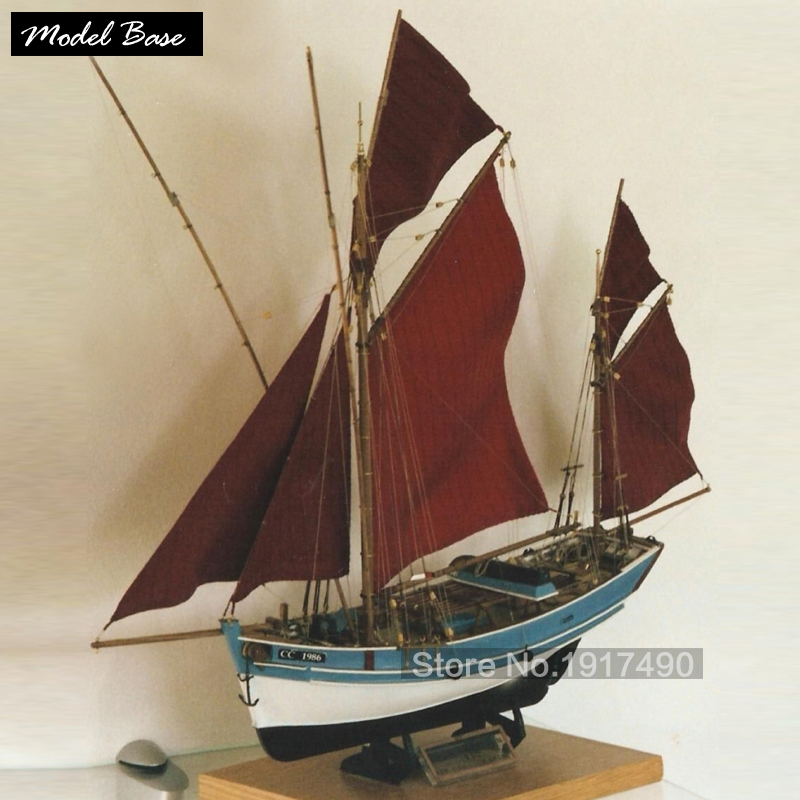 Wooden Ship Models Kits Diy Train Hobby Model Ship 3d Laser Cut Wood Scale Model 1/45 French Classic Boats San Gil Freitas No