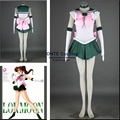 9 estilos personalizado Anime Sailor Moon primeiro Cosplay Sailor Jupiter / vênus / Chibi lua / plutão mulheres soldado roupas