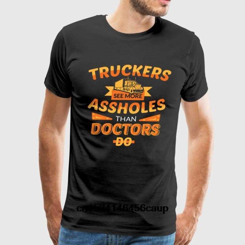 3617f9d5 100% Cotton O-neck Custom Printed Men T shirt funny truck driver shirts Gift