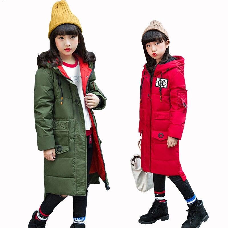90% duvet de canard blanc manteau enfants doudoune manteau hiver fille épais duvet de canard plume veste d'extérieur froid hiver-30 degrés