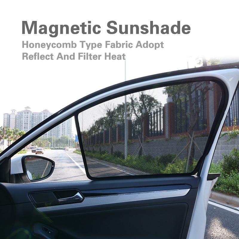 2 pcs 2 Pcs Magnetic Car Front Side Window Sunshade For Hyundai Mistra Verna Sonata Tucson Celesta Sun Block Car Sunshade Curtain (1)