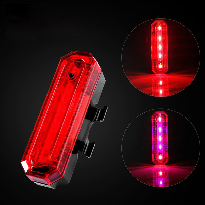 Bicycle Light LED Front Bicycle Bike Cycling Rear Tail Light Rechargeable USB 4 Modes bike Waterproof safety warn light #2g27 (4)