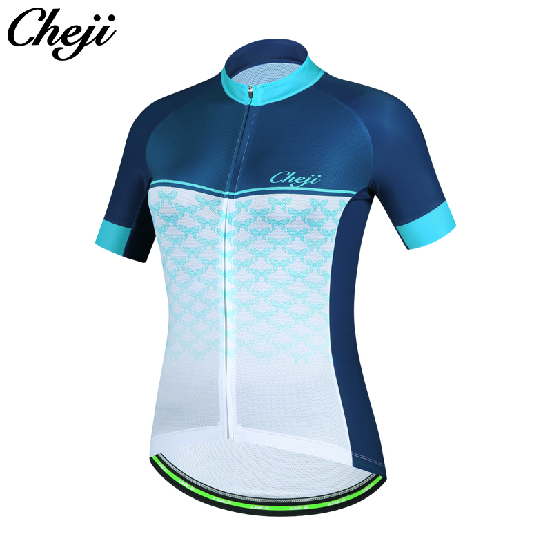 CHEJI 2018 Top Quality Mtb Road Bike Clothing Breathable Quick Dry Short Sleeve Women Cycling Jersey Ropa De Ciclismo #CJ1144 cheji women s cycling jersey sets quick dry bicycle roupa mtb outdoor sportswear cycling clothing bike short sleeve clothing